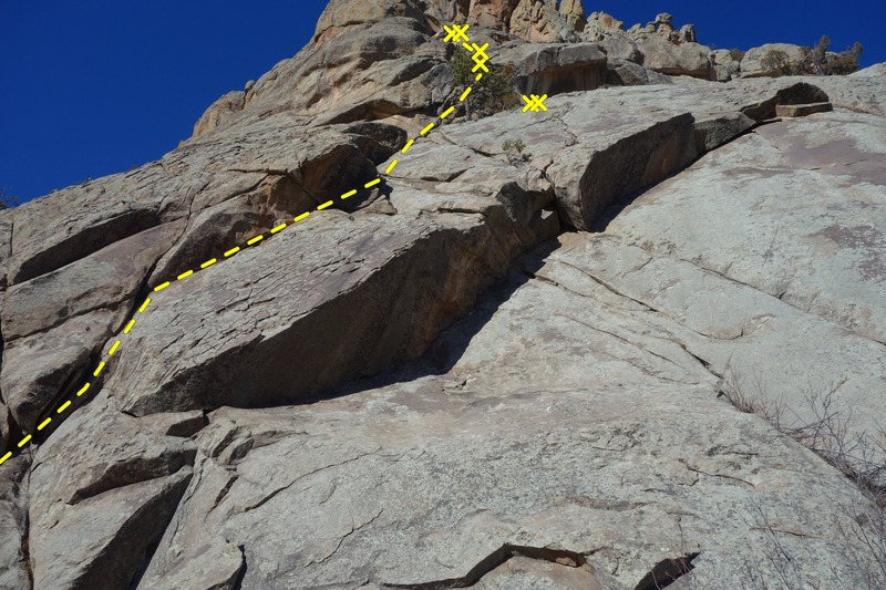 Rock Climbing Photo: Servile Dihedral.