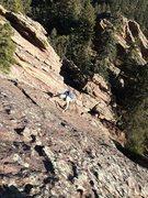 Rock Climbing Photo: Upper face toward the ridge. Steep yet very positi...