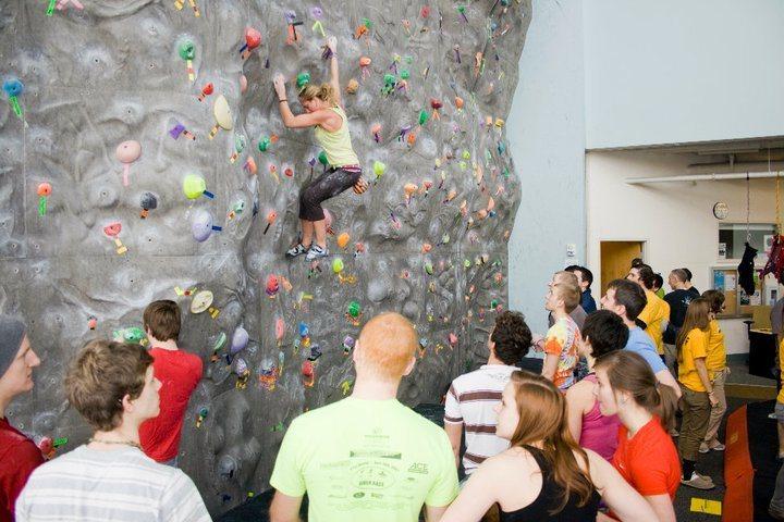 Rock Climbing Photo: Comp at UA climbing wall.