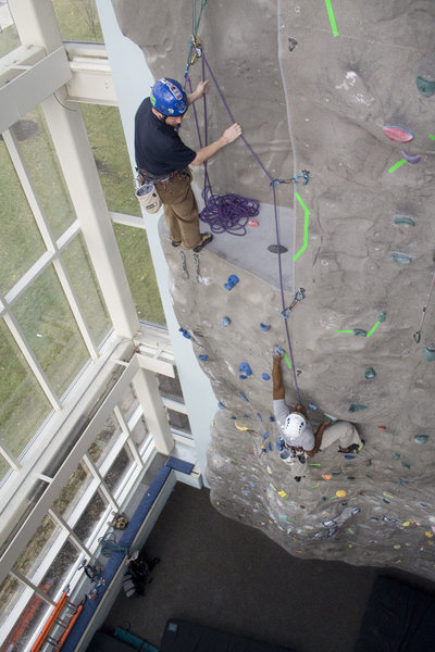 lead climb at UA.