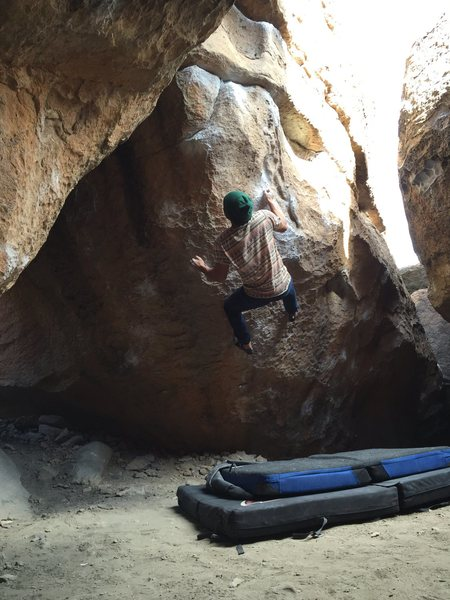 Rock Climbing Photo: Me on Chizam