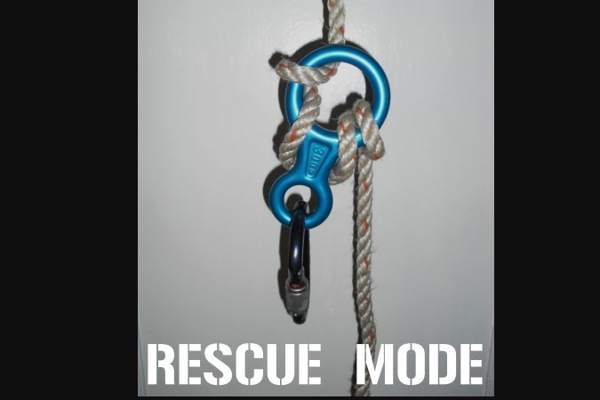 Rock Climbing Photo: rescue mode