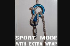 Rock Climbing Photo: sport mode with extra wrap