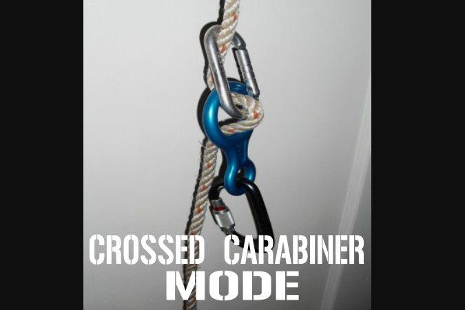 crossed carabiner mode
