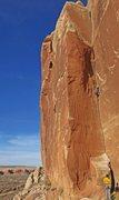 Rock Climbing Photo: Emily Stifler guns down the MT.