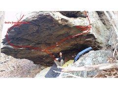 Rock Climbing Photo: God's Boulder