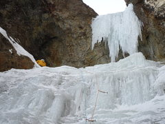 Rock Climbing Photo: P1 belay.