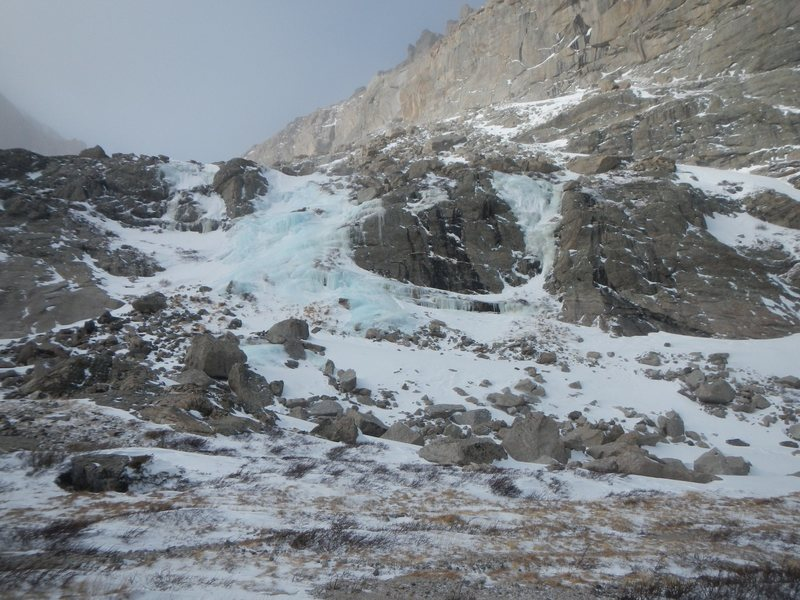Chasm Lake Outlet, 12/2014.