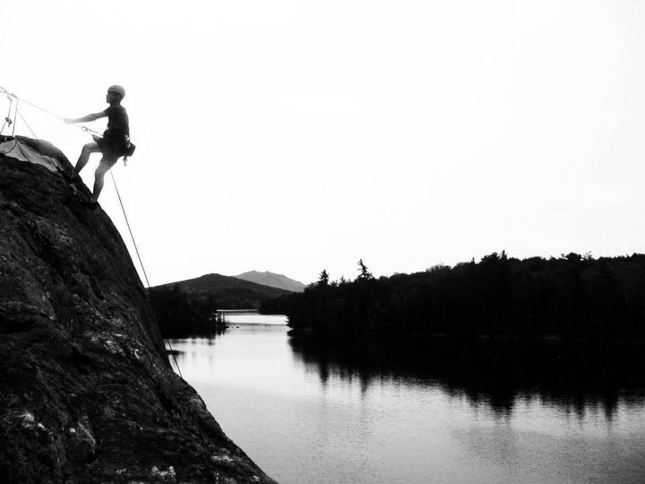Rappelling in the Adirondacks