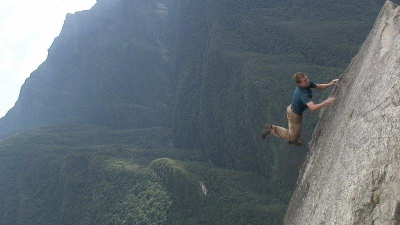 Free climbing in Peru