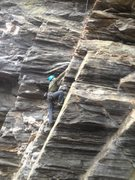 Rock Climbing Photo: Sean Lebow on the moderate face below the first ro...