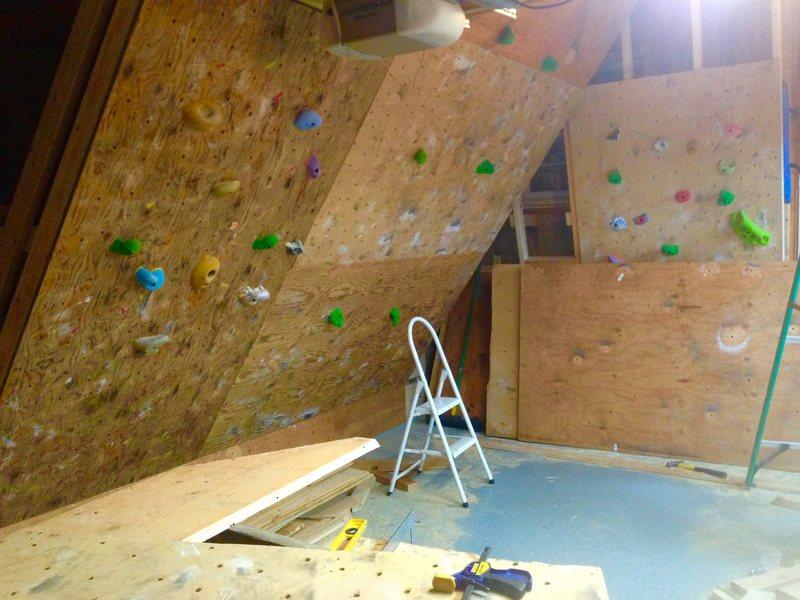 Rock Climbing Photo: Panels going up