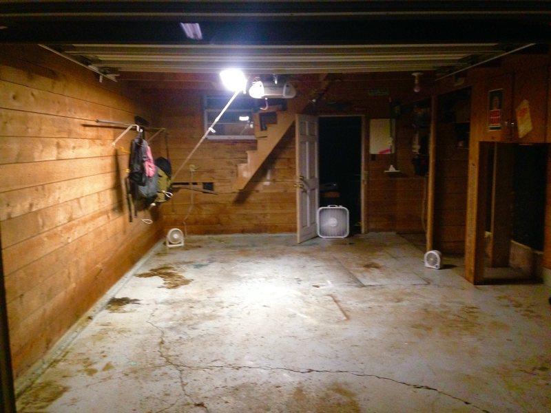 Garage before work started