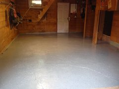 Rock Climbing Photo: Garage floor after epoxy paint.