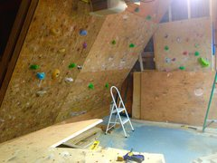 Rock Climbing Photo: Putting more panels up.