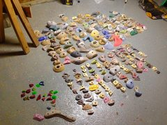 Rock Climbing Photo: Taking inventory of holds.