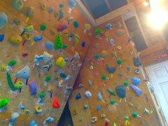Rock Climbing Photo: 15 degree wall on right.