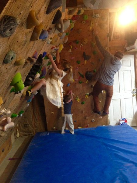 Family climbing time