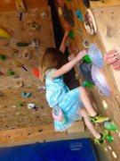 Rock Climbing Photo: Climbing on the 15 degree wall.