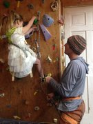Rock Climbing Photo: My five year old daughter asked me to teach her ho...