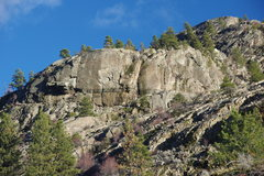 Rock Climbing Photo: Banded Wall from the lower trail (#100) on a Winte...