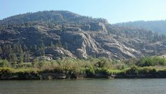 Rock Climbing Photo: WCT Crag in summer from the Okanogan River