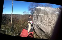Rock Climbing Photo: My friend shortly after the second ascent of Walke...