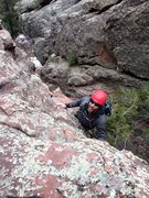 Rock Climbing Photo: The steeper escape from the upper gully. A sharp e...