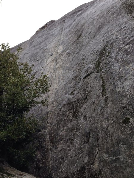 Rock Climbing Photo: First (vertical) part of the route