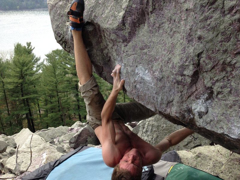 Rock Climbing Photo: ..working the moves on kind of a warm day