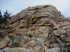 Rock Climbing Photo: Joyce leading Hot Tub Of Death.  20 Dec 2014.