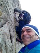 Rock Climbing Photo: Repairing the anchor on Followers Folly.