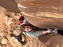 Rock Climbing Photo: First trad lead in Indian Creek