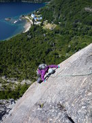 Rock Climbing Photo: slabs require careful footwork
