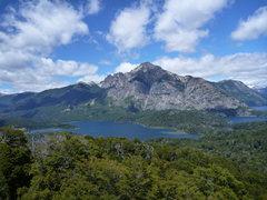 Rock Climbing Photo: cerro lopez from cerro llao llao