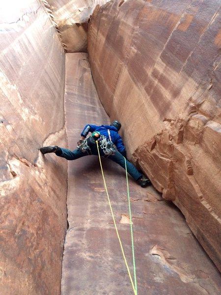 Rock Climbing Photo: Brian Prince leading P1 5.11