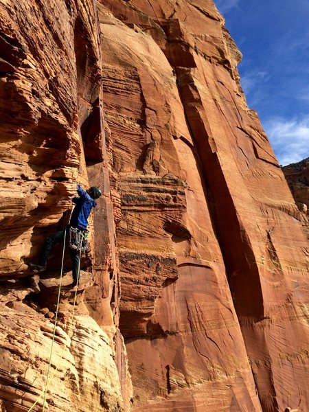 Rock Climbing Photo: Brian Prince leading P10 5.10+
