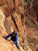 Rock Climbing Photo: Brian Prince following P9 5.11