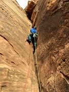 Rock Climbing Photo: Brian Prince leading P3, or 4, or 5, depending on ...