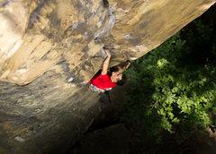 Rock Climbing Photo: Warren Whipple leading Celibate Mallard (10c) at E...