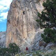 Rock Climbing Photo: Super cool route with a very technical crux using ...