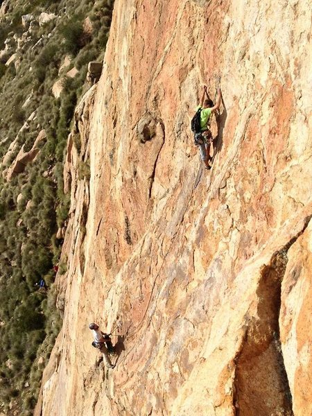 P2 coming off belay station again