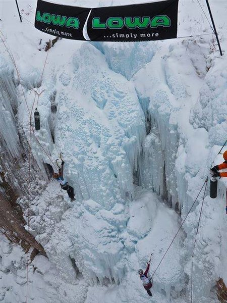 Ouray Ice Fest speed comp.
