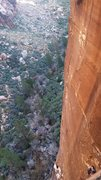 Rock Climbing Photo: Hanging out on the P4 belay ledge on Dark Shadows,...