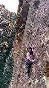 Following P3 of I Dream of Wild Turkeys, 5.10a, Red Rocks, NV