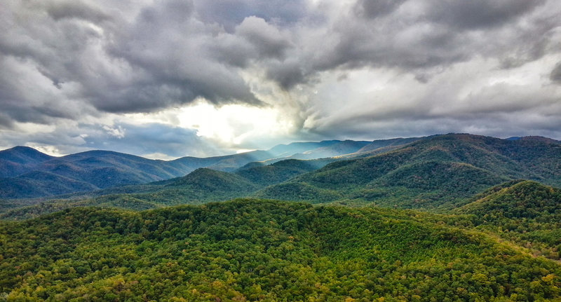 Rock Climbing Photo: There are some killer views of western NC from Loo...