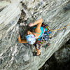 Katie Hughes leading Zoo View (5.7+) on Circus Wall. Photo by Jeff Dunbar.
