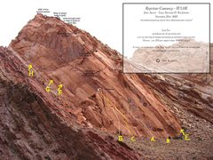 Rock Climbing Photo: A)Reptilian Curiosity III 5.11R. B)Curiosity Kille...