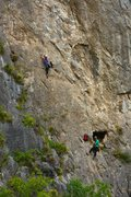 Rock Climbing Photo: Climber on P2: