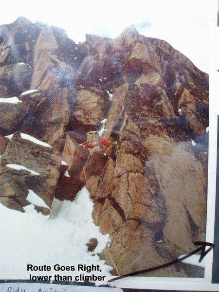 Rock Climbing Photo: RoutePhoto#4 - Just above the top of the snow/ice ...